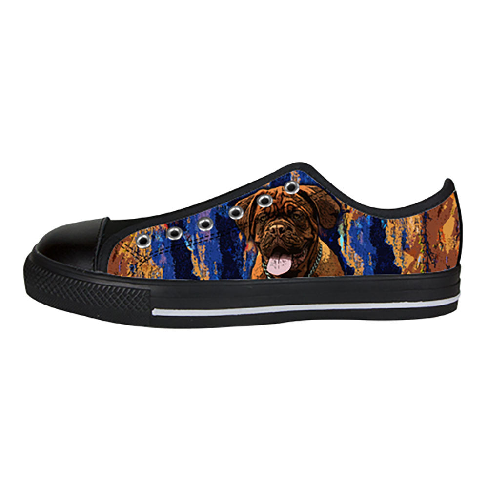 Dogues de Bordeaux Shoes & Sneakers - Custom Dogues de Bordeaux Canvas Shoes - TeeAmazing