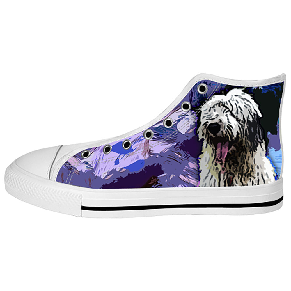 Old English Sheepdog Shoes & Sneakers - Custom Old English Sheepdog Canvas Shoes - TeeAmazing