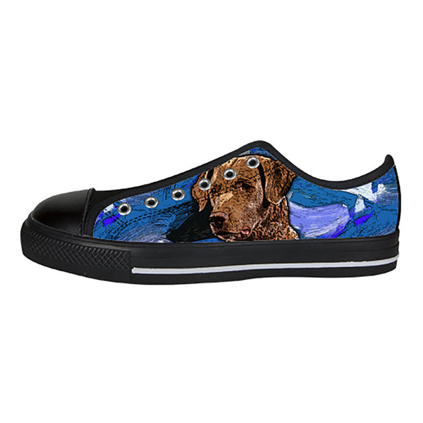 Chesapeake Bay Retriever Shoes & Sneakers - Custom Chesapeake Bay Retriever Canvas Shoes - TeeAmazing