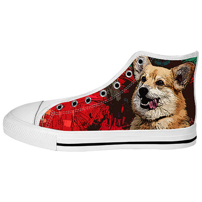Pembroke Welsh Corgi Shoes & Sneakers - Custom Pembroke Welsh Corgi Canvas Shoes - TeeAmazing