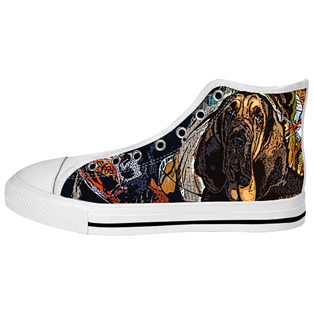 Bloodhound Shoes & Sneakers - Custom Bloodhound Canvas Shoes - TeeAmazing