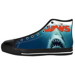 Jaws Shoes & Sneakers - Custom Jaws Canvas Shoes - TeeAmazing - 1