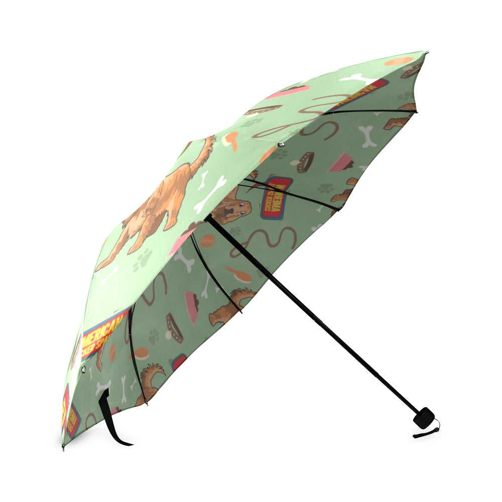 American Cocker Spaniel Pattern Foldable Umbrella - TeeAmazing