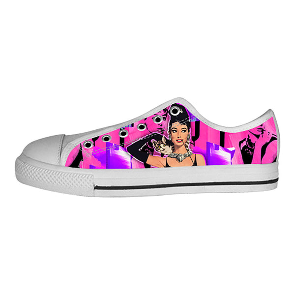 Audrey Hepburn Shoes & Sneakers - Custom Audrey Hepburn Canvas Shoes - TeeAmazing - 4
