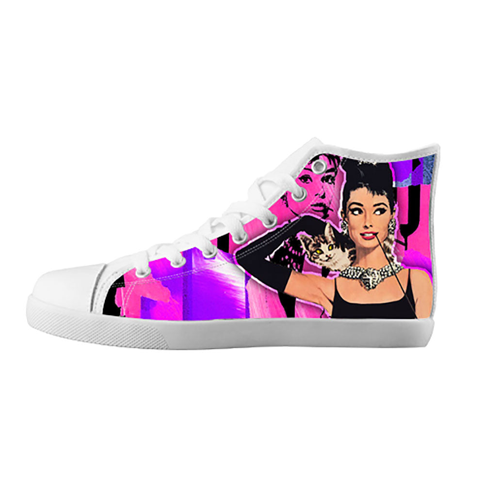 Audrey Hepburn Shoes & Sneakers - Custom Audrey Hepburn Canvas Shoes - TeeAmazing