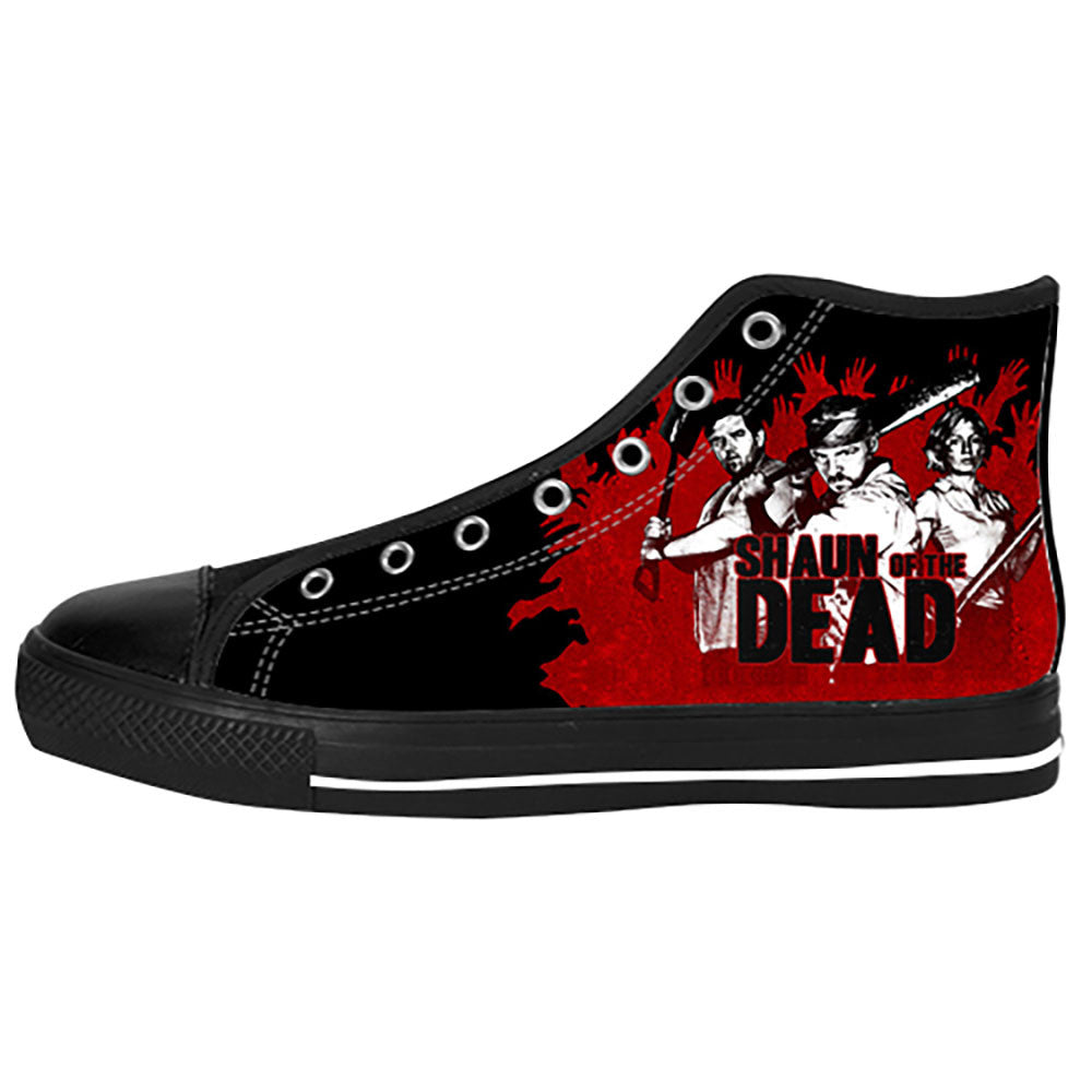 Shaun of the Dead Shoes & Sneakers - Custom Shaun of the Dead Canvas Shoes - TeeAmazing - 1