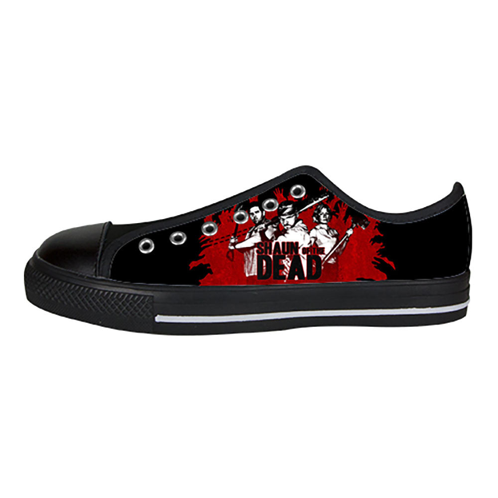 Shaun of the Dead Shoes & Sneakers - Custom Shaun of the Dead Canvas Shoes - TeeAmazing - 3