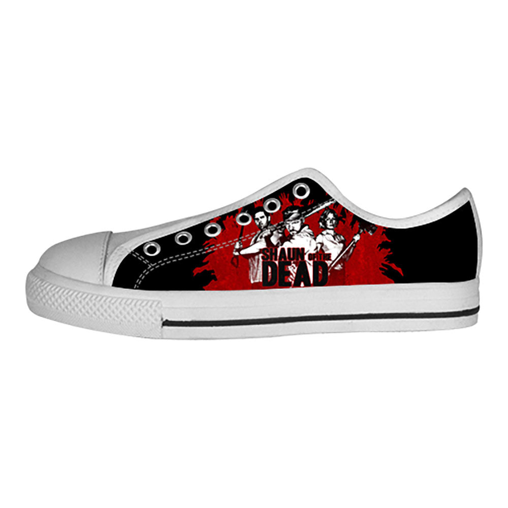 Shaun of the Dead Shoes & Sneakers - Custom Shaun of the Dead Canvas Shoes - TeeAmazing - 4