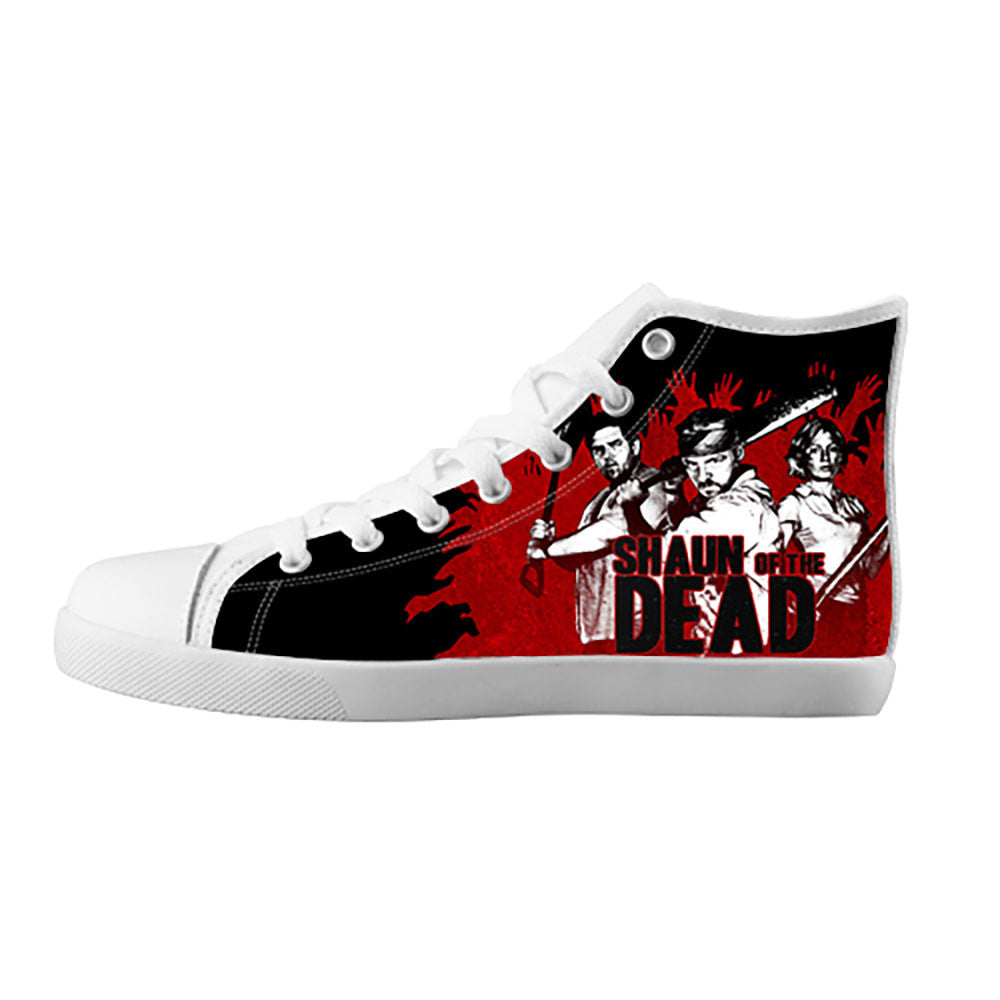 Shaun of the Dead Shoes & Sneakers - Custom Shaun of the Dead Canvas Shoes - TeeAmazing