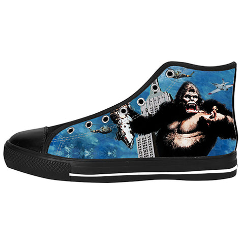 King Kong Shoes & Sneakers - Custom King Kong Canvas Shoes - TeeAmazing - 1