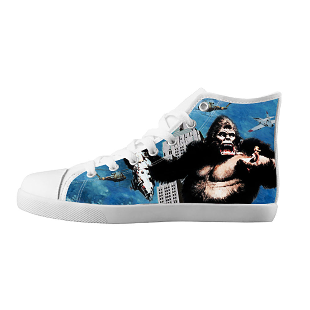 King Kong Shoes & Sneakers - Custom King Kong Canvas Shoes - TeeAmazing