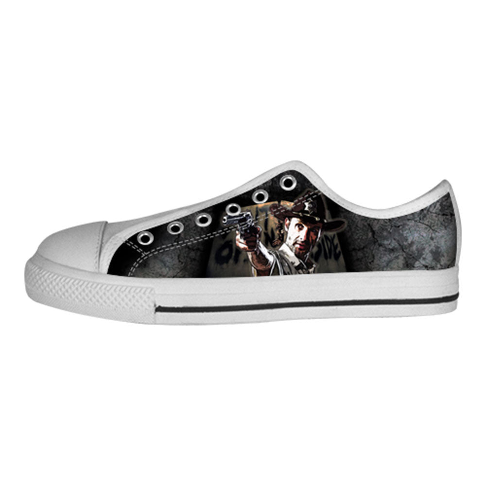 Rick Grimes Shoes & Sneakers - Custom The Walking Dead Canvas Shoes - TeeAmazing - 4