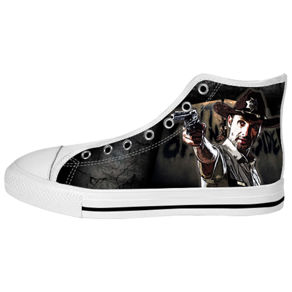 Rick Grimes Shoes & Sneakers - Custom The Walking Dead Canvas Shoes - TeeAmazing - 2