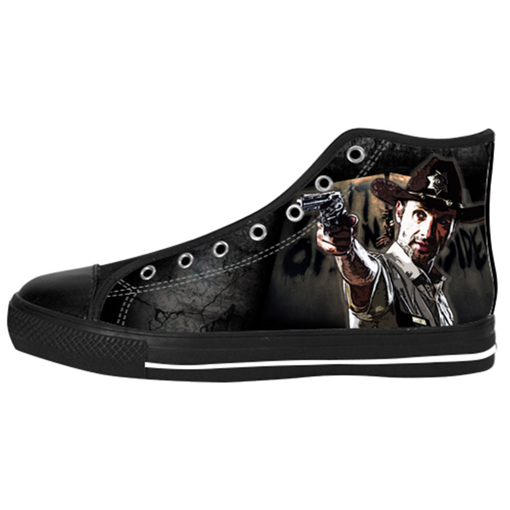 Rick Grimes Shoes & Sneakers - Custom The Walking Dead Canvas Shoes - TeeAmazing