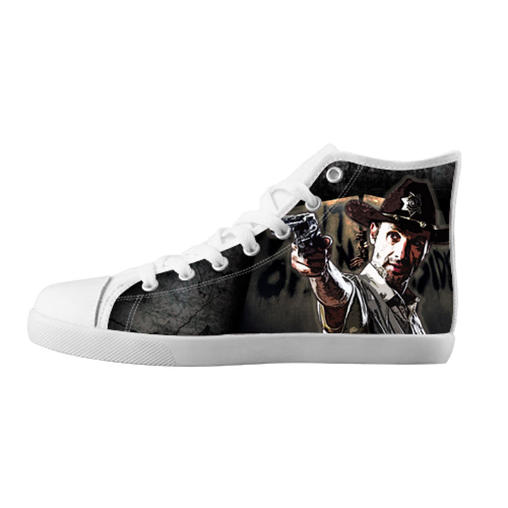 Rick Grimes Shoes & Sneakers - Custom The Walking Dead Canvas Shoes - TeeAmazing - 5