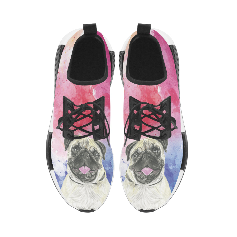 Pug Water Colour No.1 Women's Draco Running Shoes - TeeAmazing