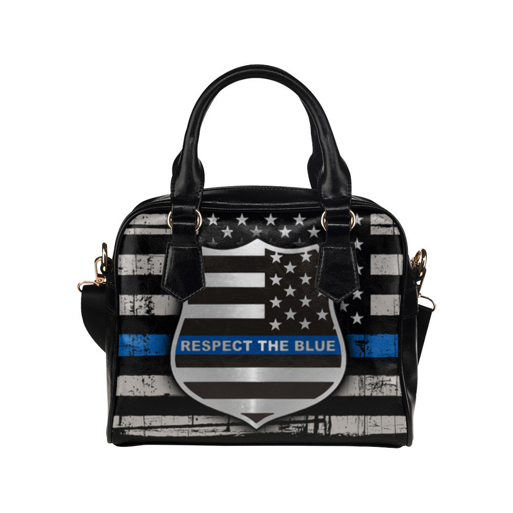 Thin Blue Line Flag Purse & Handbags - Police Bags - TeeAmazing