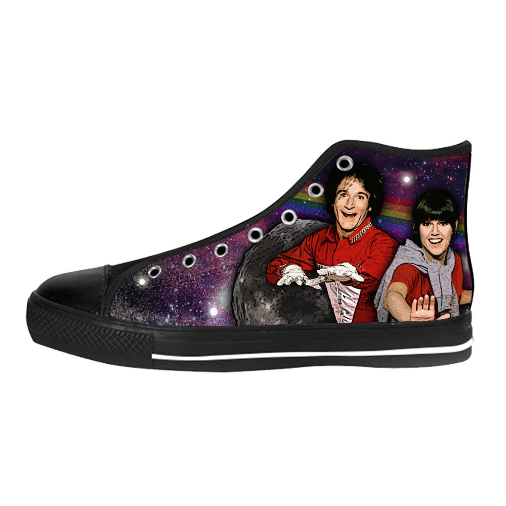 Mork & Mindy Shoes & Sneakers - Custom Mork & Mindy Canvas Shoes - TeeAmazing