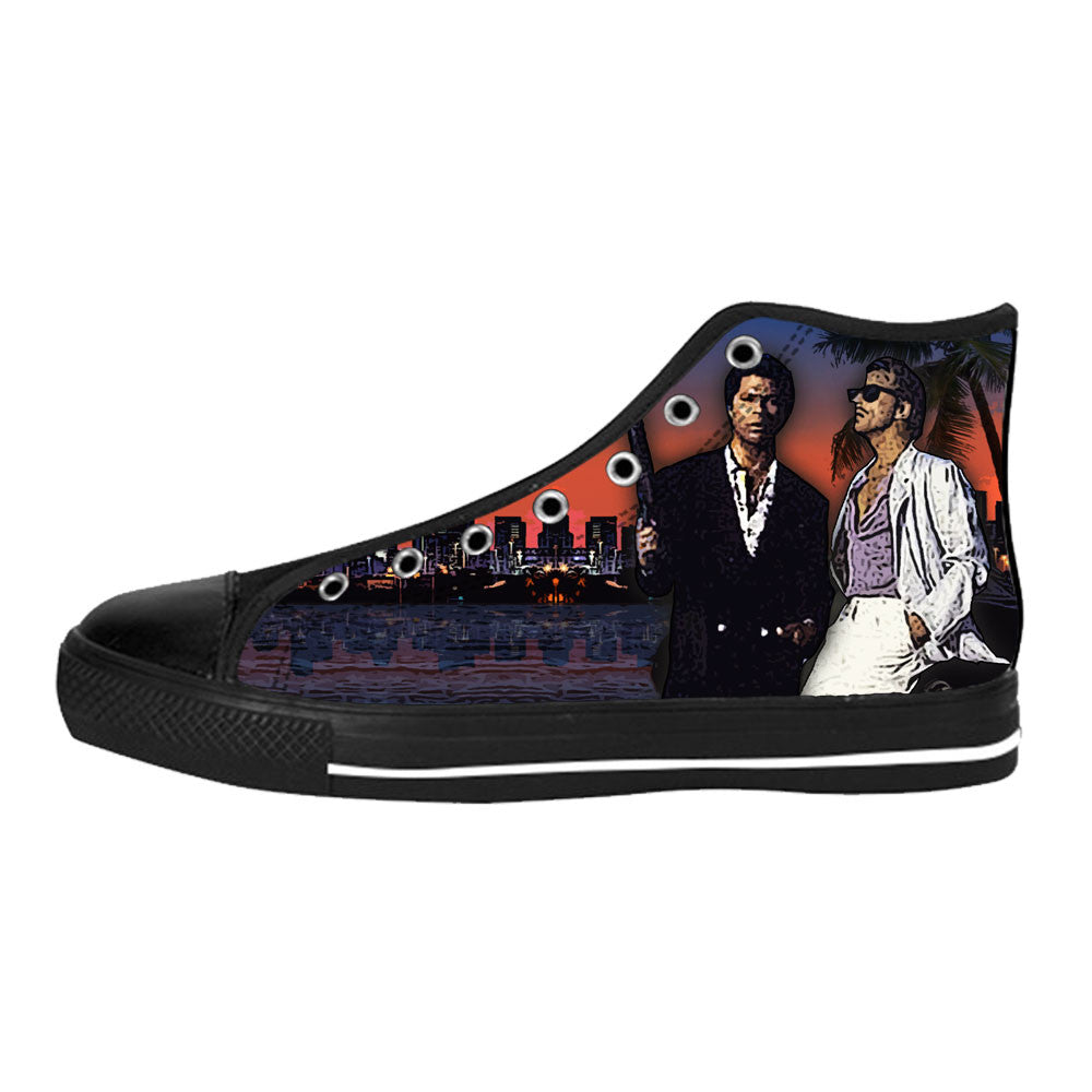 Miami Vice Shoes & Sneakers - Custom Miami Vice Canvas Shoes HW2B0897-US11