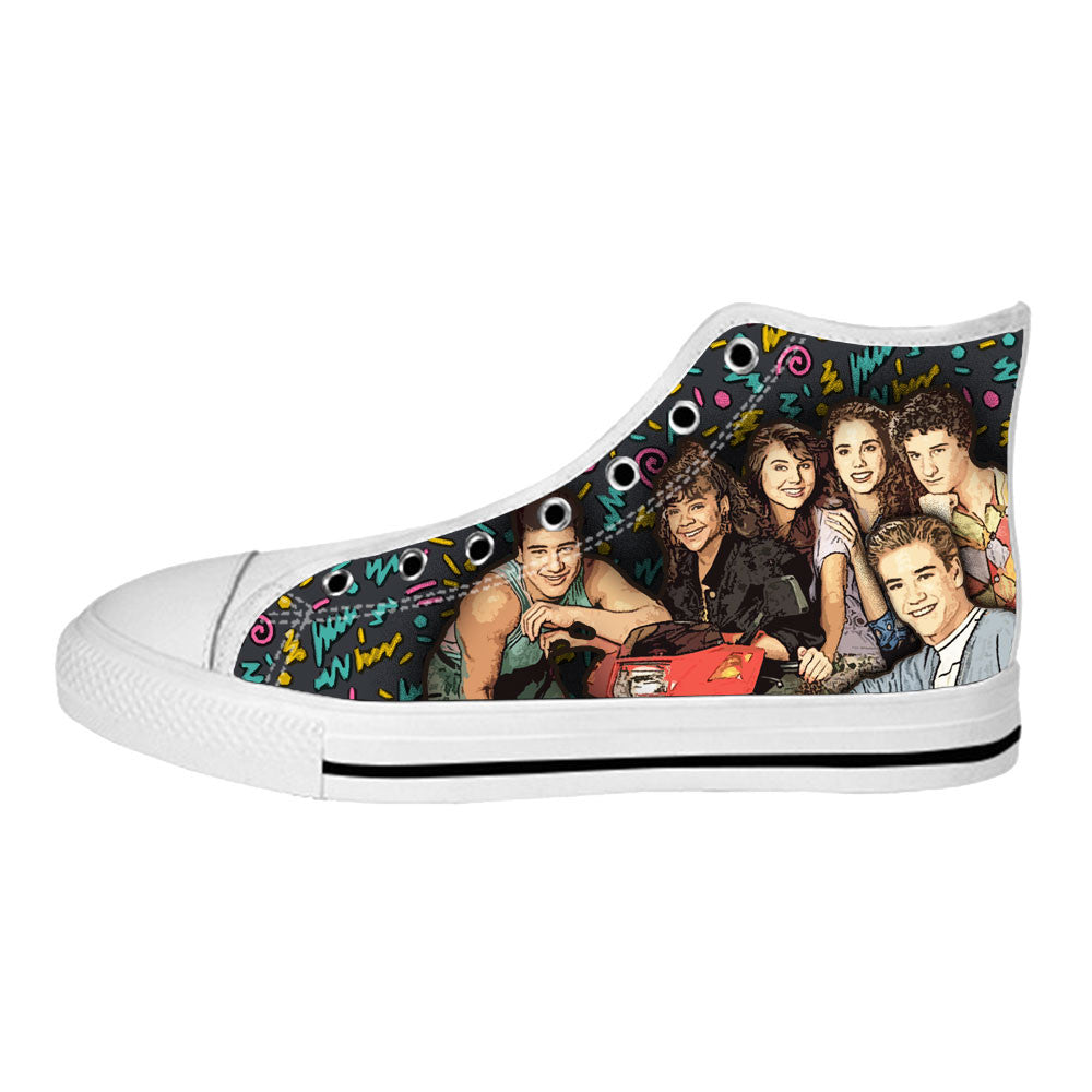 Saved by the Bell Shoes & Sneakers - Custom Saved by the Bell Canvas Shoes - TeeAmazing - 2