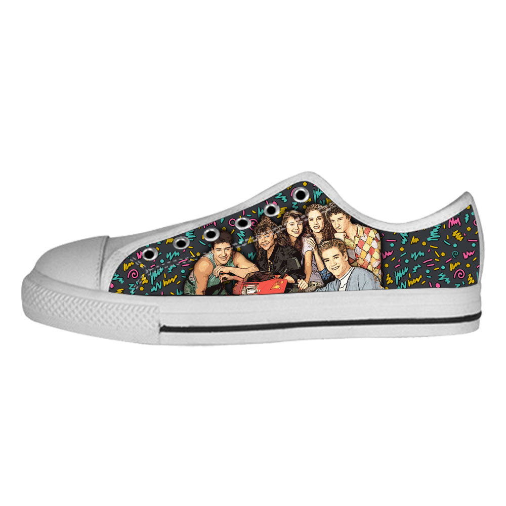 Saved by the Bell Shoes & Sneakers - Custom Saved by the Bell Canvas Shoes - TeeAmazing