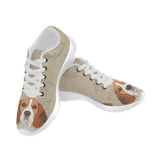 Beagle Lover White Sneakers for Women - TeeAmazing