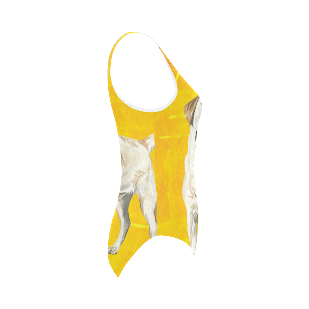 Labrador Retriever Water Colour No.1 Vest One Piece Swimsuit - TeeAmazing