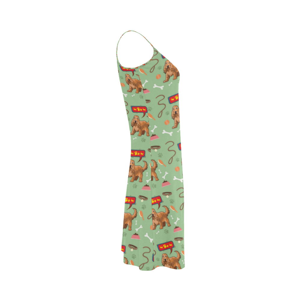 American Cocker Spaniel Pattern Alcestis Slip Dress - TeeAmazing