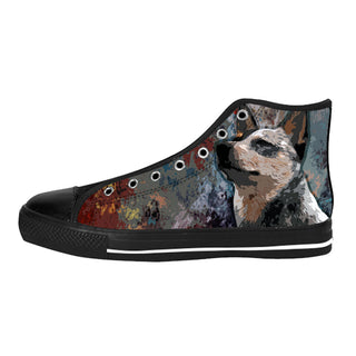 Heeler Dog Shoes & Sneakers - Custom Australian Cattle Dog Canvas Shoes - TeeAmazing