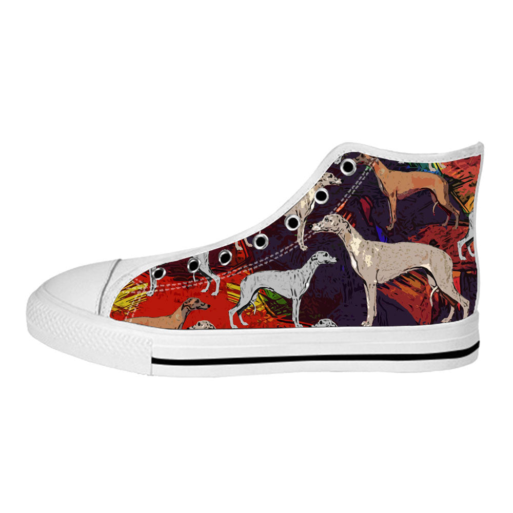 Whippet Shoes & Sneakers - Custom Whippet Canvas Shoes - TeeAmazing