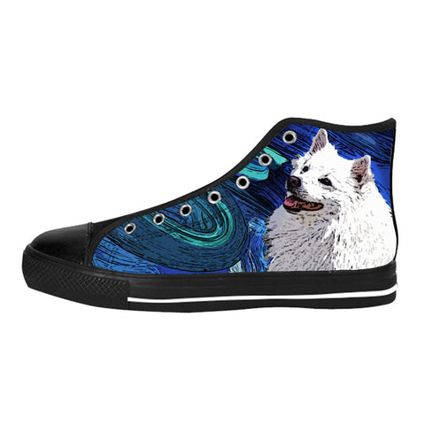 American Eskimo Dog Shoes & Sneakers - Custom American Eskimo Dog Canvas Shoes - TeeAmazing - 1