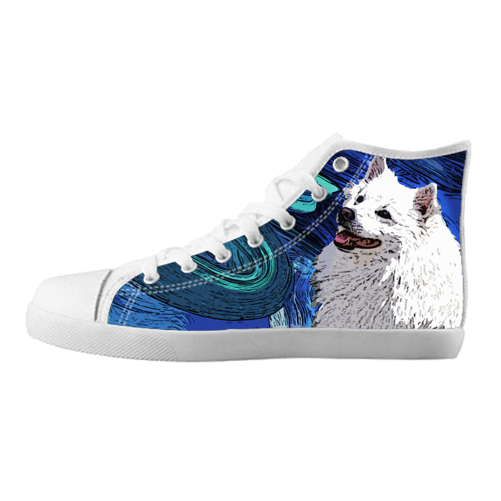 American Eskimo Dog Shoes & Sneakers - Custom American Eskimo Dog Canvas Shoes - TeeAmazing