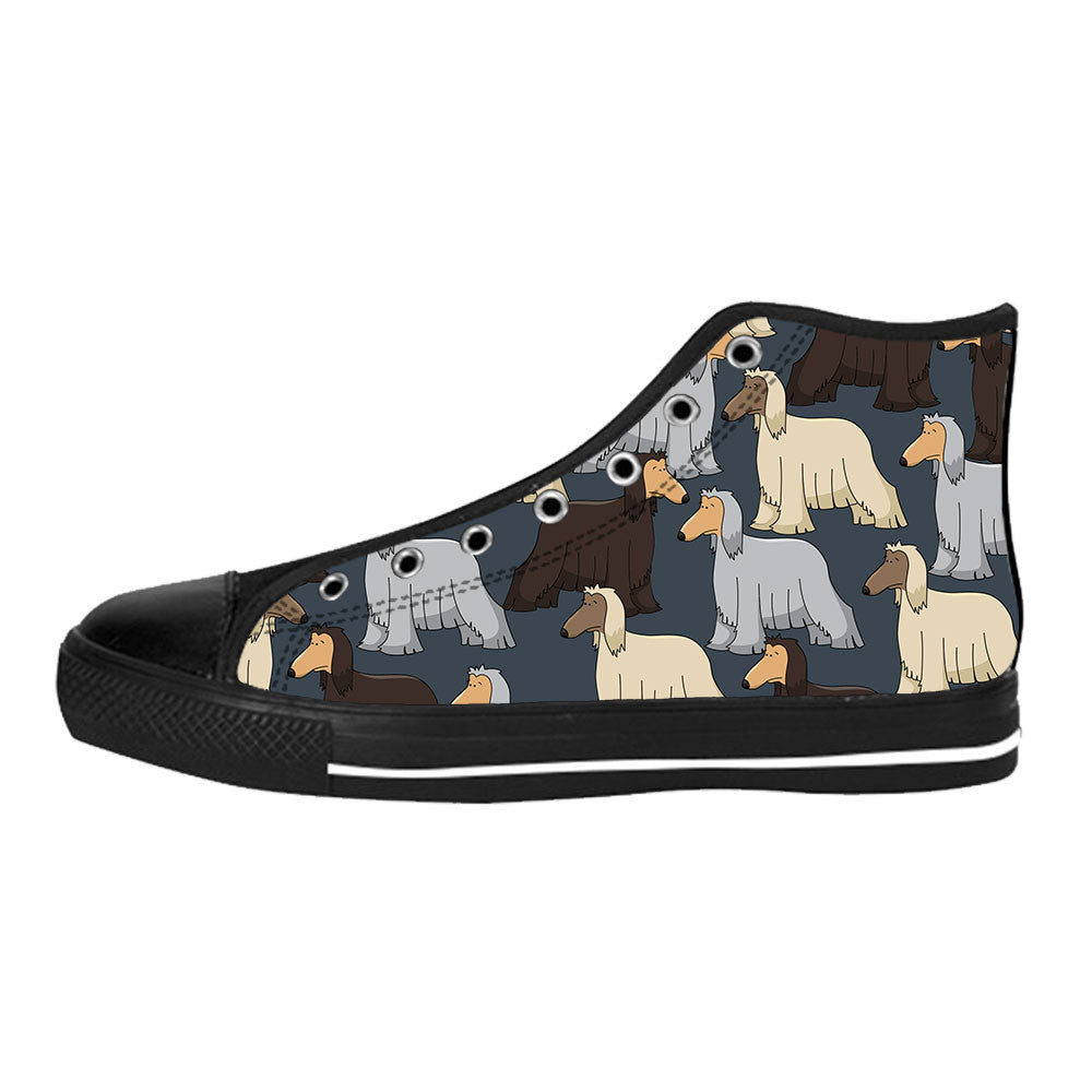 Afghan Hound Shoes & Sneakers - Custom Afghan Hound Canvas Shoes - TeeAmazing