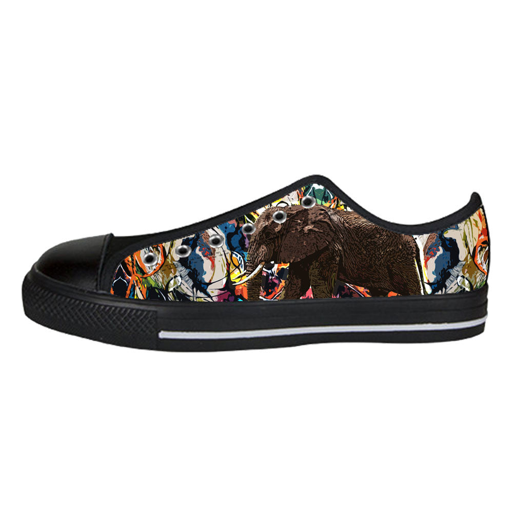 Elephant Shoes & Sneakers - Custom Elephant Canvas Shoes - TeeAmazing