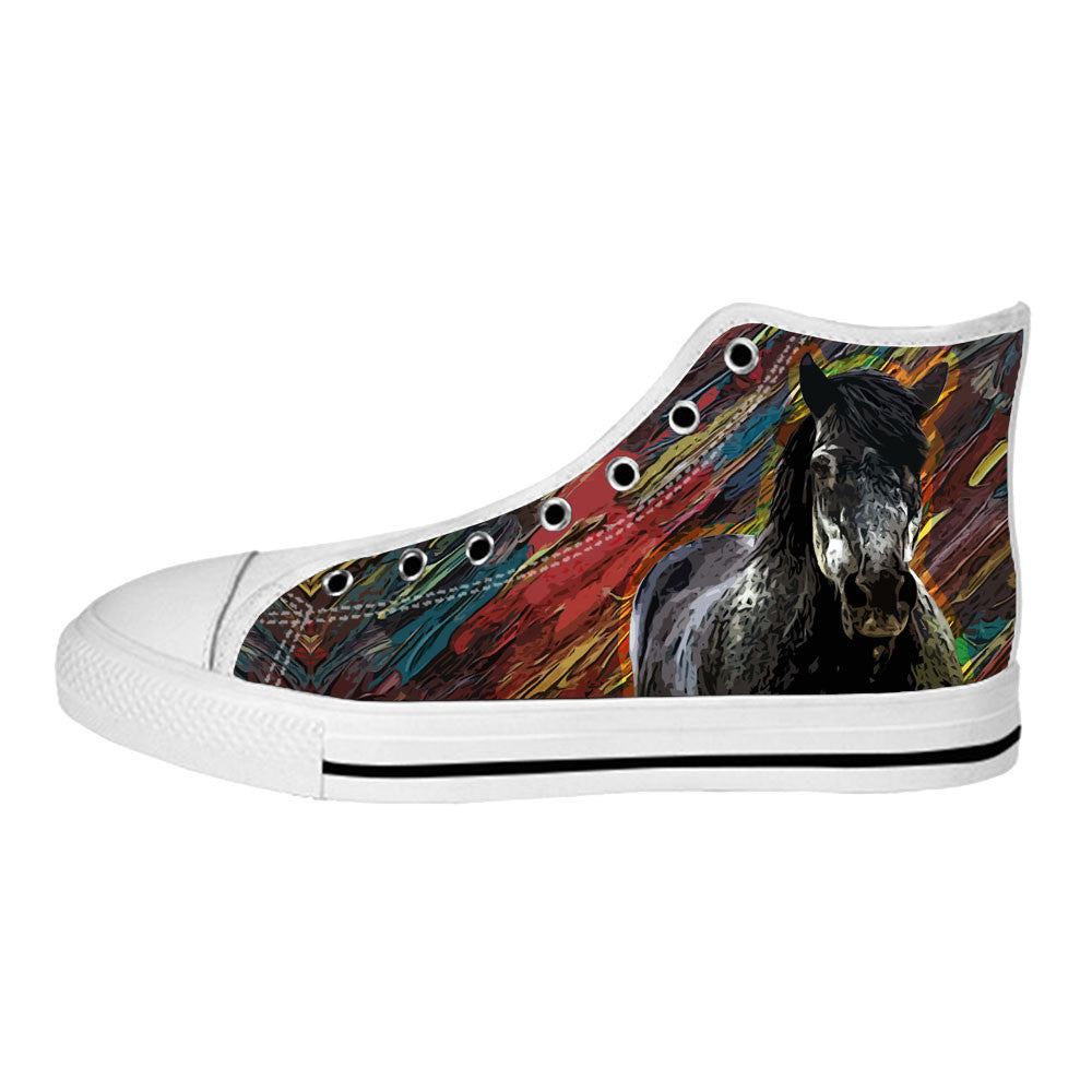 Horse Shoes & Sneakers - Custom Horse Canvas Shoes - TeeAmazing - 2