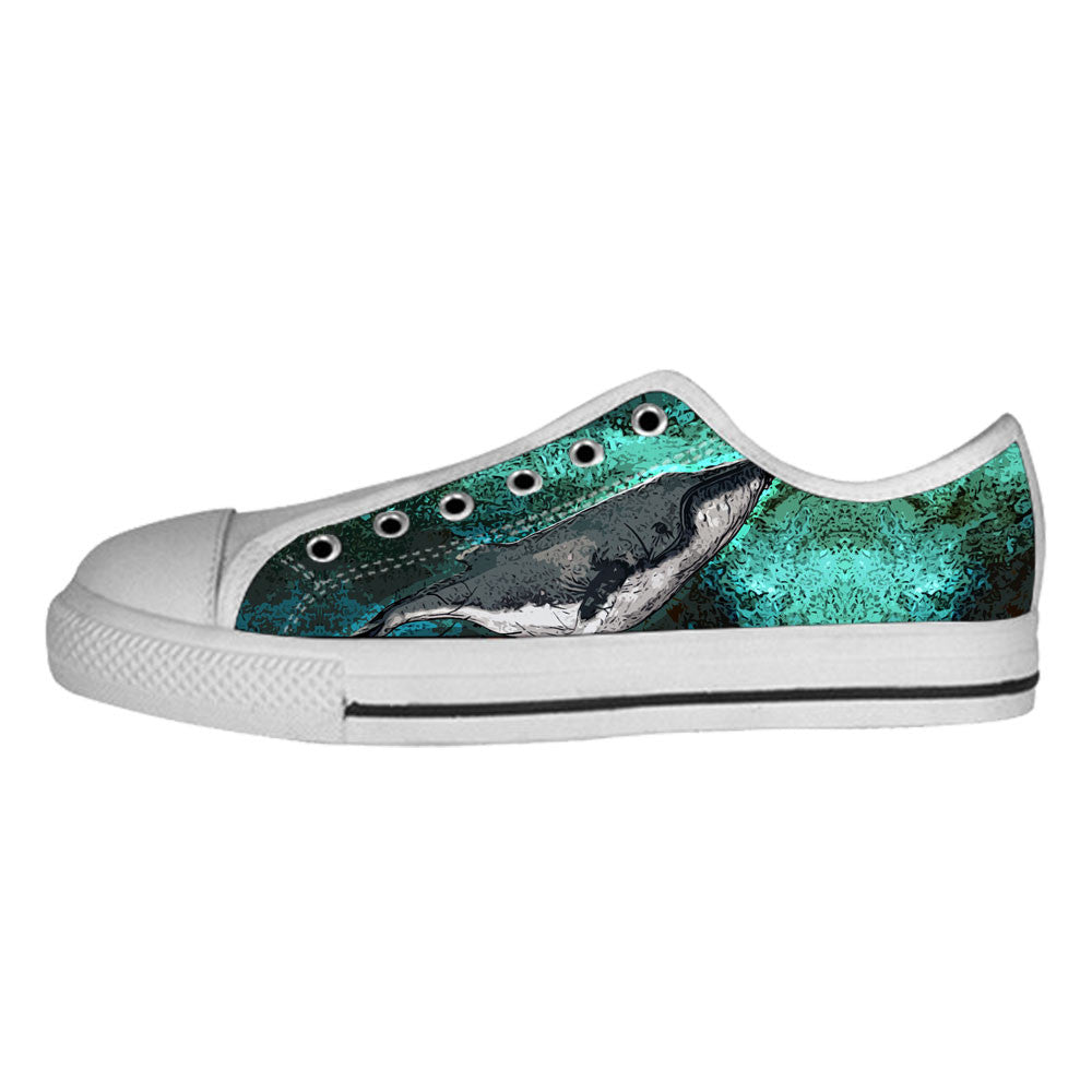 Whale Shoes & Sneakers - Custom Whale Canvas Shoes - TeeAmazing - 4