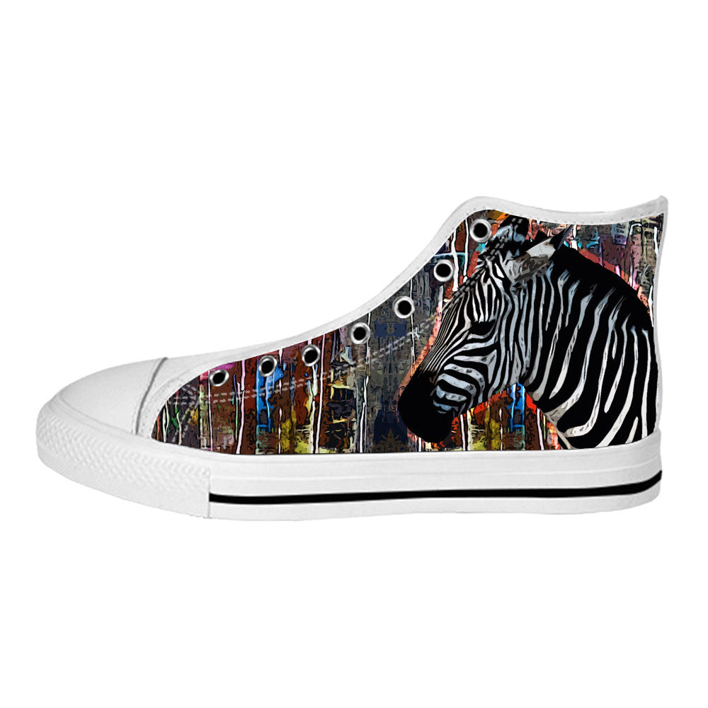 Zebra Shoes & Sneakers - Custom Zebra Canvas Shoes - TeeAmazing - 2