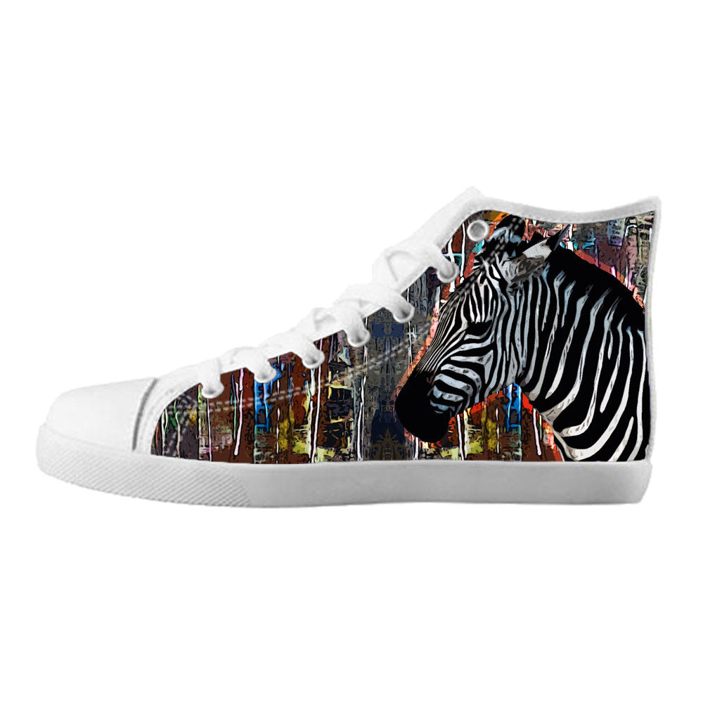 Zebra Shoes & Sneakers - Custom Zebra Canvas Shoes - TeeAmazing - 5