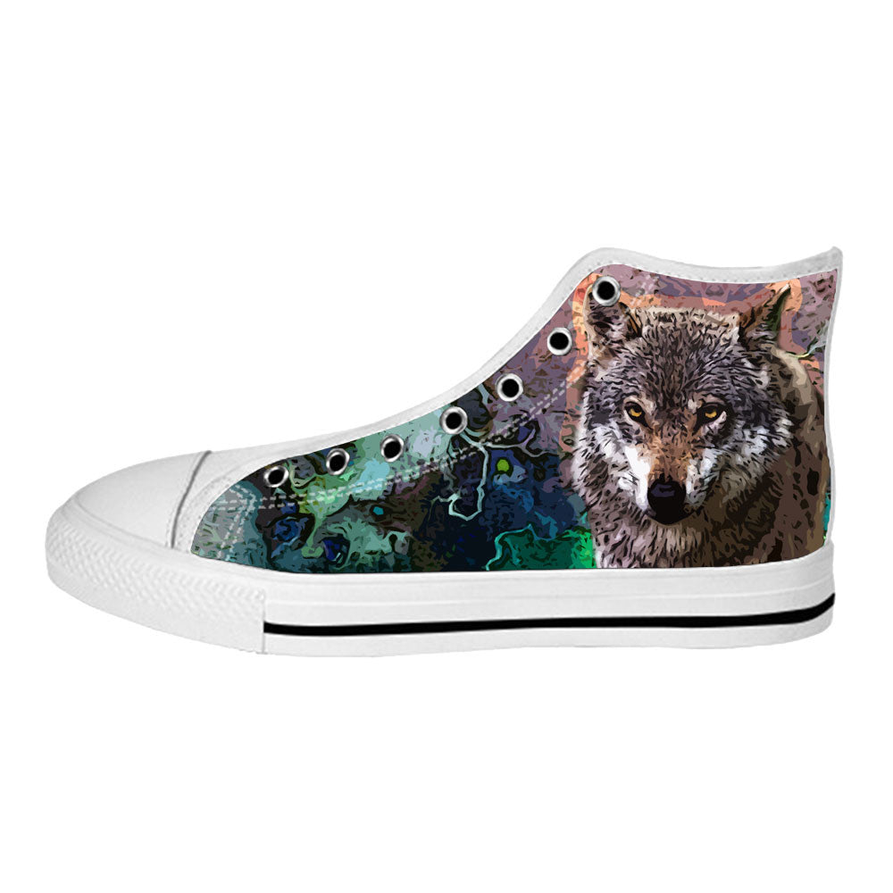 Wolf Shoes & Sneakers - Custom Wolf Canvas Shoes - TeeAmazing