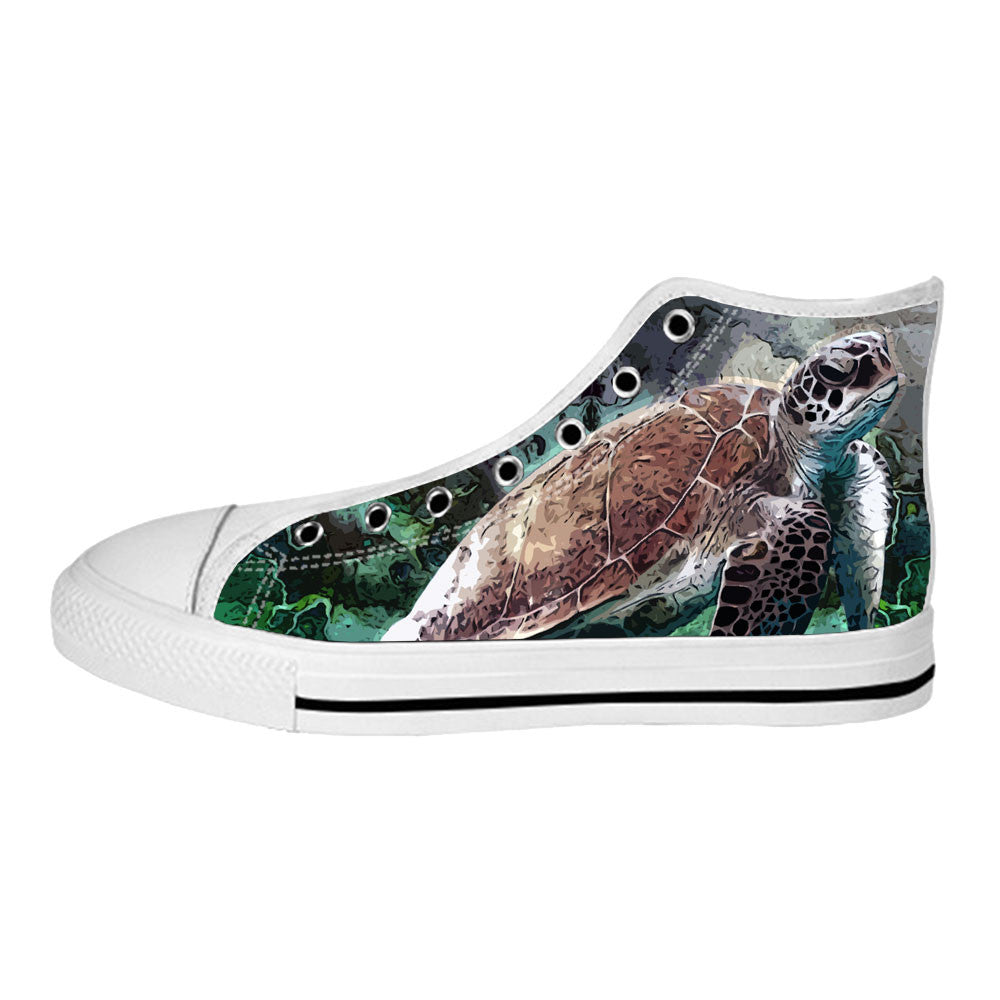 Turtle Shoes & Sneakers - Custom Turtle Canvas Shoes HW1W0945-US7.5
