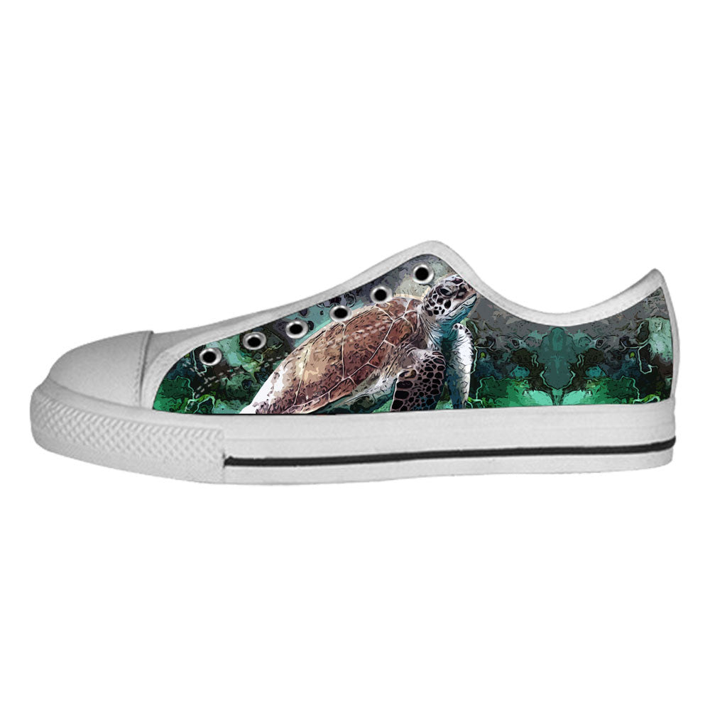 Turtle Shoes & Sneakers - Custom Turtle Canvas Shoes - TeeAmazing