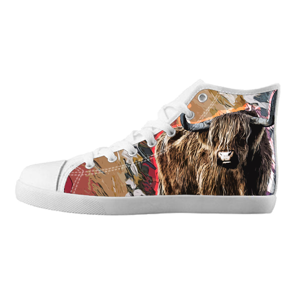 Bull Shoes & Sneakers - Custom Bull Canvas Shoes - TeeAmazing