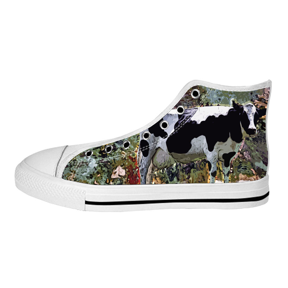 Cow Shoes & Sneakers - Custom Cow Canvas Shoes - TeeAmazing