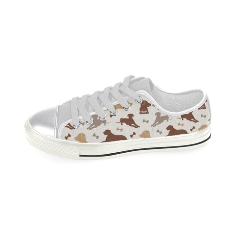 Labrador Retriever Pattern White Women's Classic Canvas Shoes - TeeAmazing