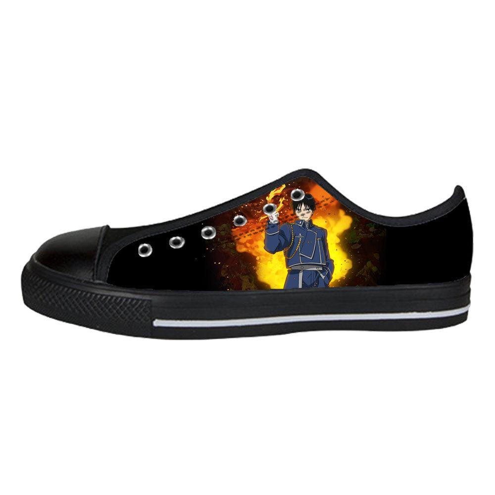 Roy Mustang Shoes & Sneakers - Custom Full Metal Alchemist Canvas Shoes - TeeAmazing
