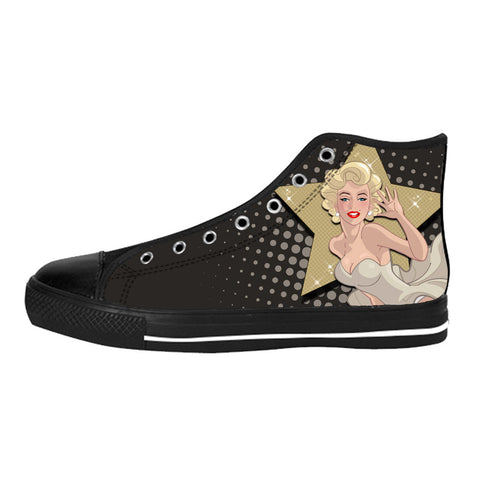 Marilyn The Star Shoes & Sneakers - Custom Marilyn Monroe Canvas Shoes - TeeAmazing
