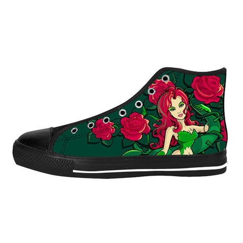 Poison Ivy Shoes & Sneakers - Custom Poison Ivy Canvas Shoes - TeeAmazing
