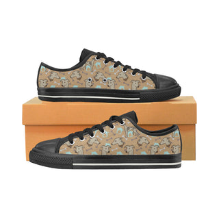 Whippet Black Women's Classic Canvas Shoes - TeeAmazing