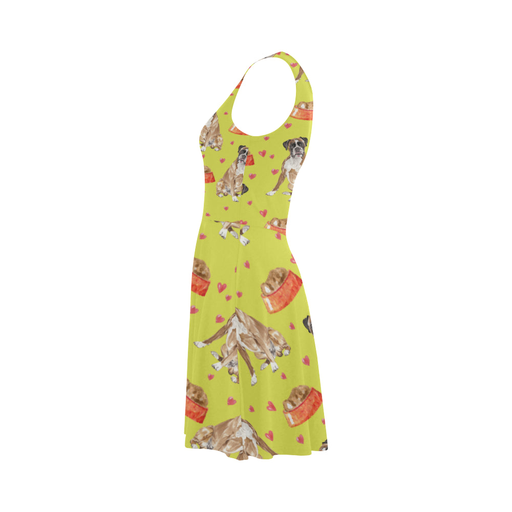 Boxer Water Colour Pattern No.2 Atalanta Sundress - TeeAmazing