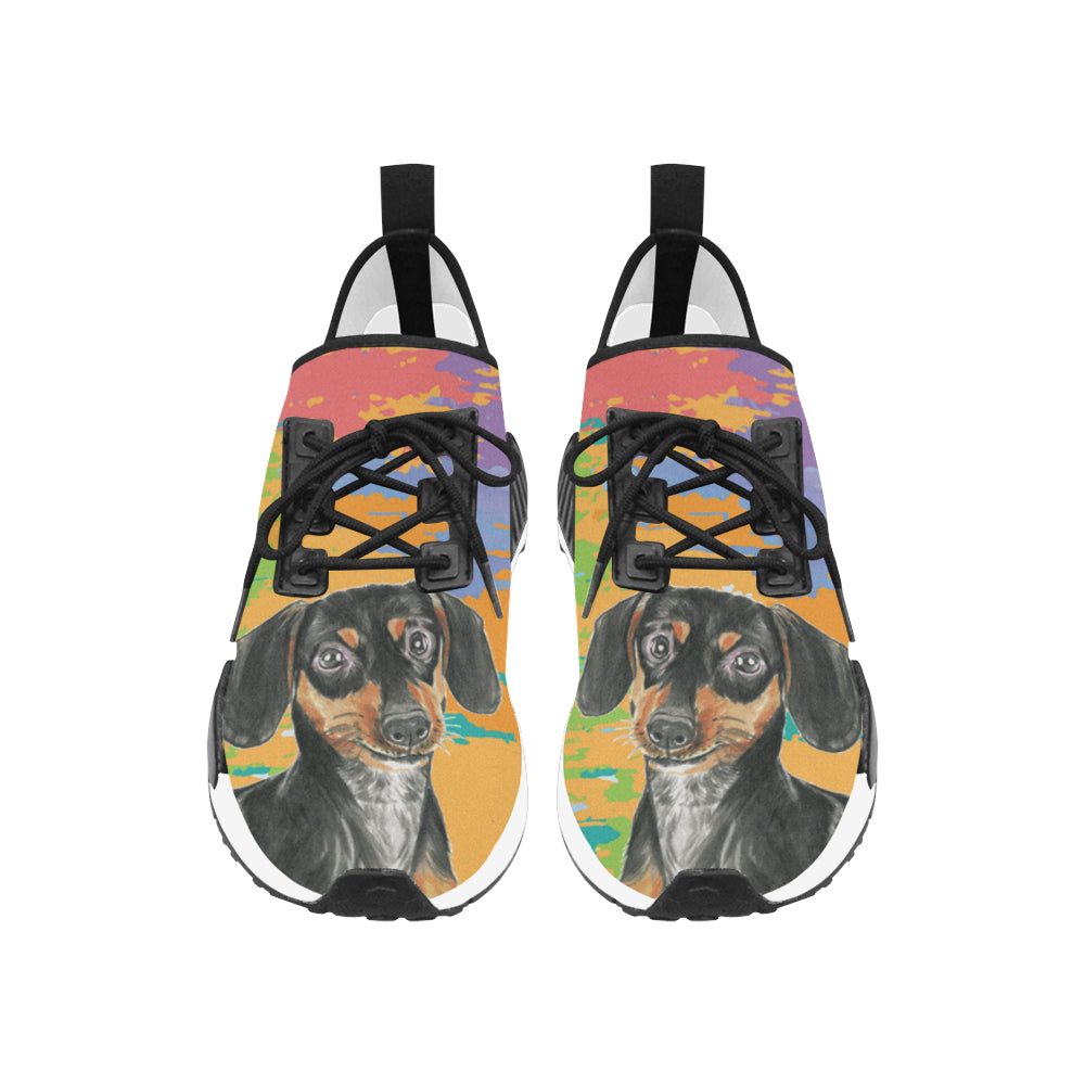 Dachshund Water Colour No.2 Women's Draco Running Shoes - TeeAmazing